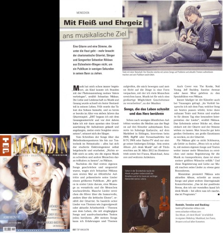 Artikel im Top Magazin