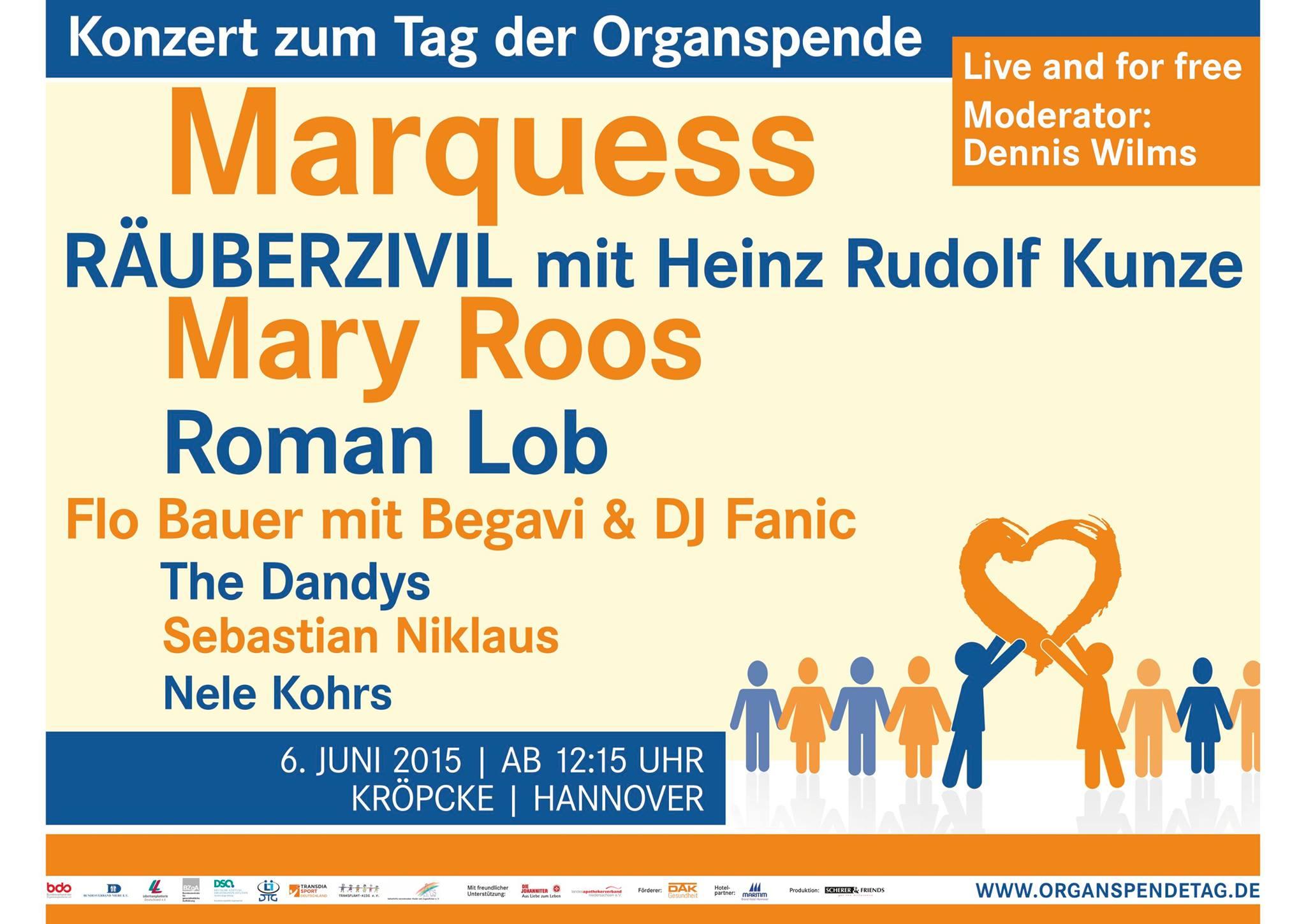 Grossplakat Tag Der Organspende In Hannover 2015